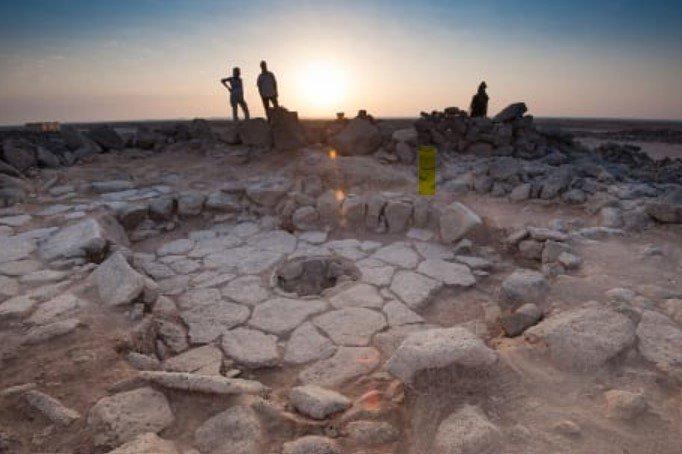 Il forno di cottura nel sito di Shubayqa, nel cosiddetto deserto nero della Giordania storia della piadina romagnola