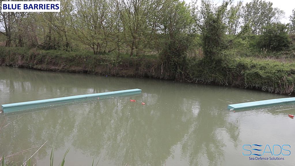 installazione SEADS sul Lamone per raccogliere le plastiche nei fiumi