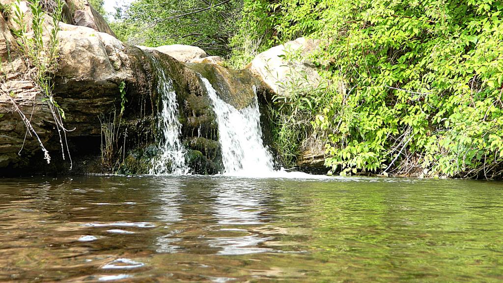 una cascata lungo il fiume Senio