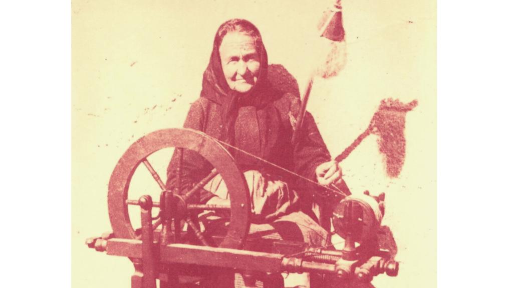 Un'azdora romagnola al filatoio, anni 30