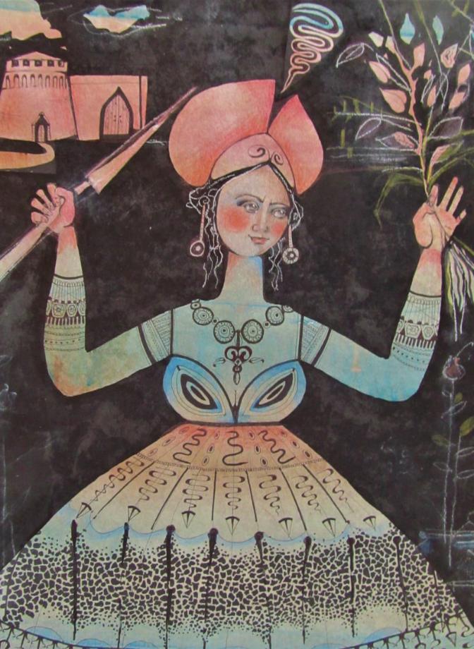 Barbara Cotignoli, dettaglio di opera che partecipa al Premio d'arte Caterina Sforza II edizione