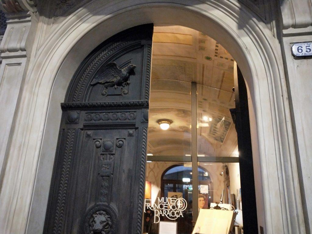 Ingresso del Museo Francesco Baracca di Lugo di Romagna, in via Baracca