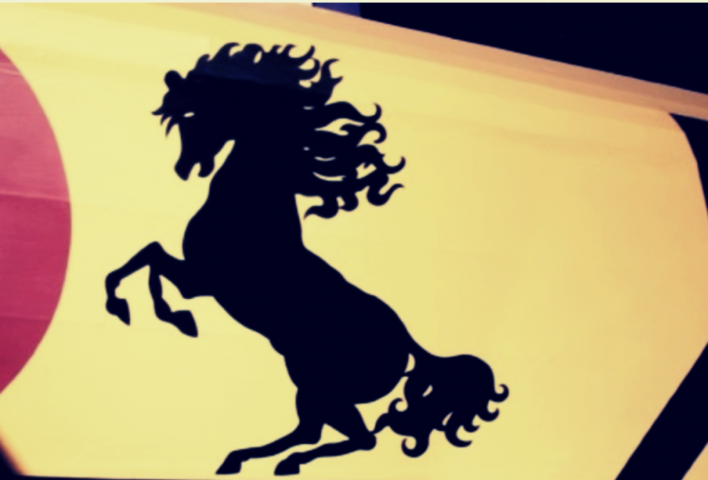 cavallino rampante Francesco Baracca dipinto sulla fiancata dell'aereo esposto al Museo Francesco Baracca di Lugo di Ravenna