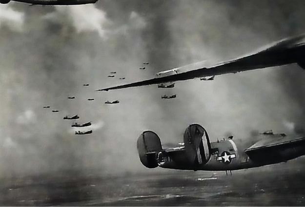 Formazione di B24Jdel 450° Bomber Group esposto al museo dell'aviazione Romagna Air Finders