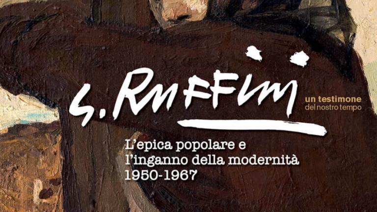"""Centenario di Giulio Ruffini: manifesto de """"L'epica popolare e l'inganno della modernità 1950-1967- in mostra a Bagnacavallo"""