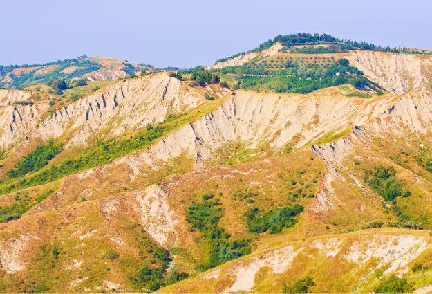 i calanchi del parco regionale della vena del gesso Romagnola dove è Brisighella