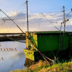 Foto copertina dell'articolo cosa vedere in Romagna in autunnno. Riproduce un tipico padellone da pesca del Delta